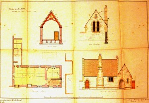Original Plans for Barton-on-the-Heath village school.